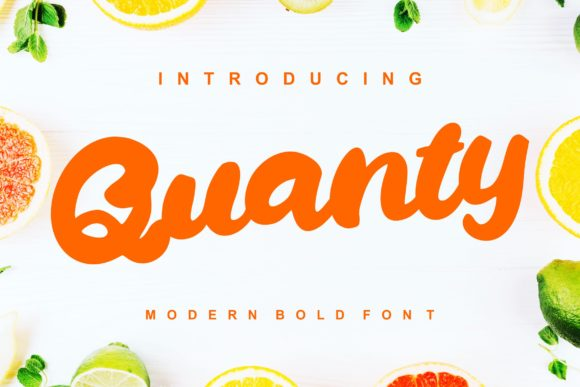 Print on Demand: Quanty Script & Handwritten Font By Vunira