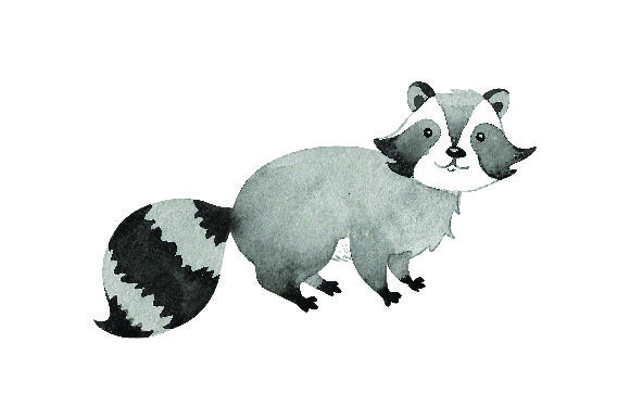 Raccoon - Watercolor Animals Craft Cut File By Creative Fabrica Crafts