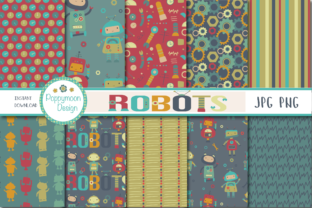 Robot Paper Graphic By poppymoondesign