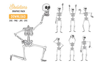 Skeleton Vector Clipart Pack Graphic By The Gradient Fox