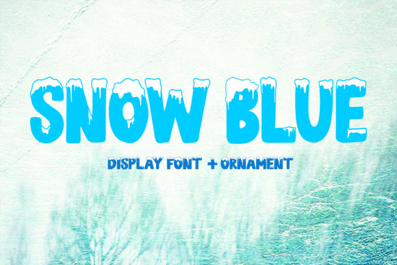 Print on Demand: Snow Blue Display Font By Girinesia