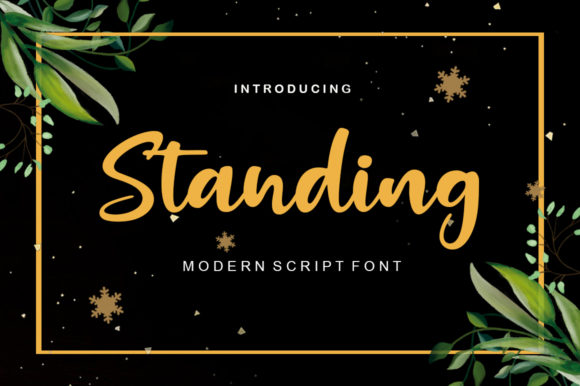 Print on Demand: Standing Script & Handwritten Font By ayeelastudio - Image 1