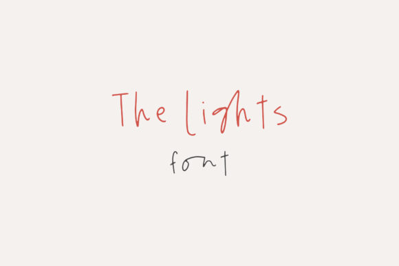 Print on Demand: The Lights Sans Serif Font By Dmitrii Chirkov - Image 1