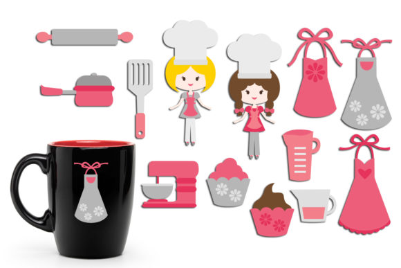Print on Demand: Valentine Baking Kitchen Graphic Illustrations By Revidevi