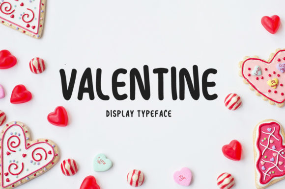 Print on Demand: Valentine Display Font By Shattered Notion