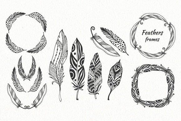 Print on Demand: Vector Feathers Pack Graphic Illustrations By worldion