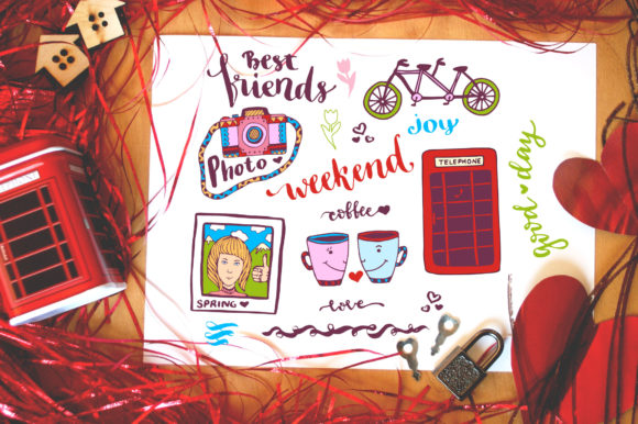 Weekend Doodle Art Graphic Illustrations By worldion
