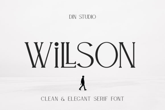 Print on Demand: Willson Serif Font By Din Studio