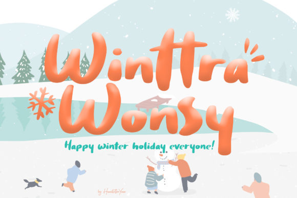 Print on Demand: Winttra Wonsy Display Font By yean.aguste