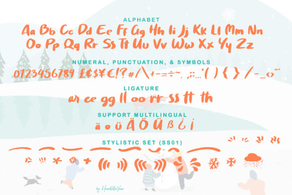 Print on Demand: Winttra Wonsy Display Font By yean.aguste - Image 7