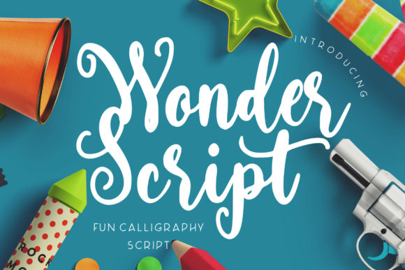 Print on Demand: Wonder Script Script & Handwritten Font By CreatypeStudio