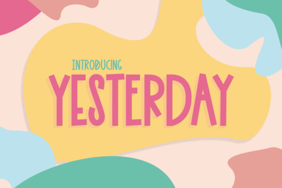 Print on Demand: Yesterday Display Font By Salt & Pepper Designs