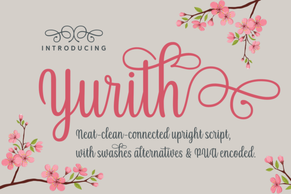 Print on Demand: Yurith Script & Handwritten Font By Situjuh - Image 1