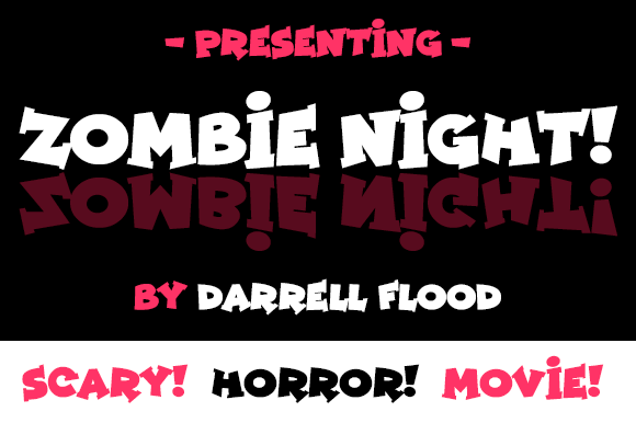 Print on Demand: Zombie Night Display Font By Dadiomouse