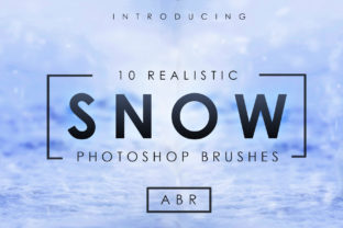 10 Realistic Photoshop Snow Brushes Graphic By denestudios