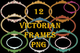 12 Victorian Frames PNG Graphic By The Paper Princess