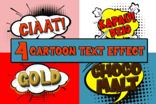4 Cartoon Text Effect Graphic By Sharon ( DMStd )