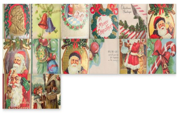 Download Free 44 Vintage Christmas Card Art Images Graphic By Scrapbook Attic Studio Creative Fabrica for Cricut Explore, Silhouette and other cutting machines.