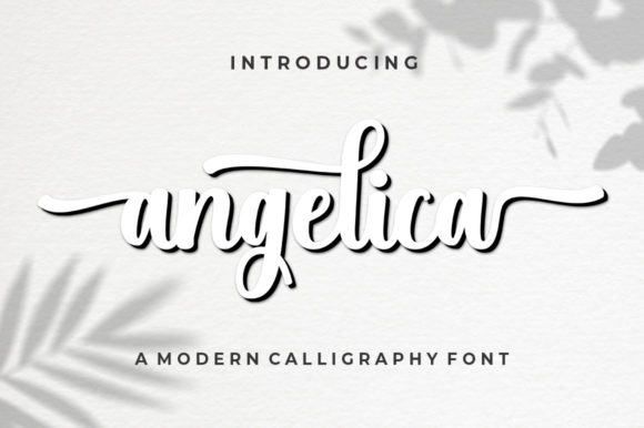 Print on Demand: Angelica Script & Handwritten Font By supotype