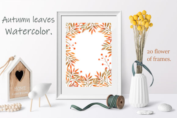 Autumn Leaves. Watercolor Frames Graphic By natika26042002 Image 2
