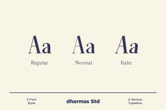 Print on Demand: Average Serif Font By dharmas - Image 2