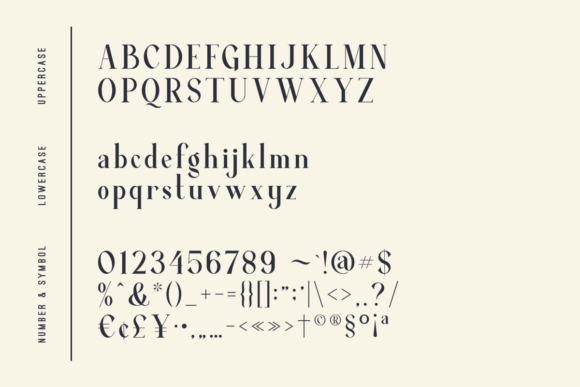 Print on Demand: Average Serif Font By dharmas - Image 13