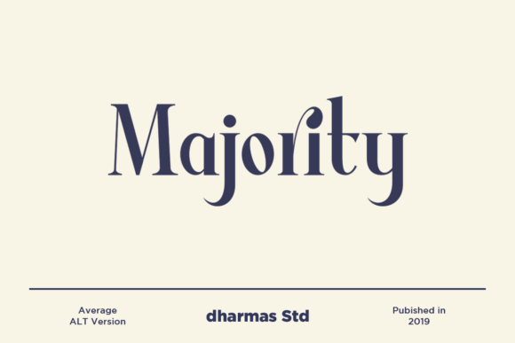 Print on Demand: Average Serif Font By dharmas - Image 3