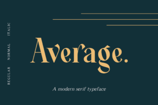 Average Font By dharmas