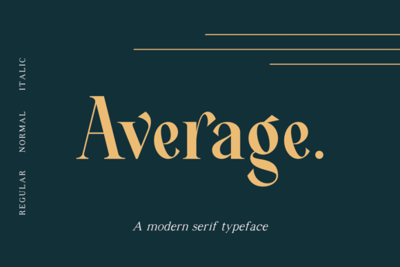 Print on Demand: Average Serif Font By dharmas