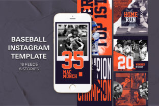 Baseball Instagram Templates Graphic By qohhaarqhaz