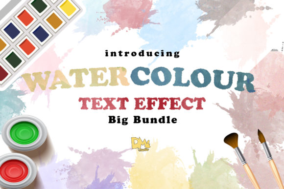 Print on Demand: Big BUndle Water Coloue Text Effect Graphic Layer Styles By Sharon ( DMStd )