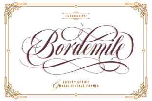 Print on Demand: Bordemile Script & Handwritten Font By letterhend