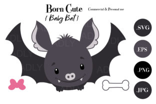 Born Cute Baby Bat Graphic By adlydigital