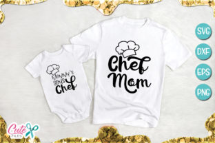 Chef Mom and Sous Chef Baby Svg Graphic By Cute files