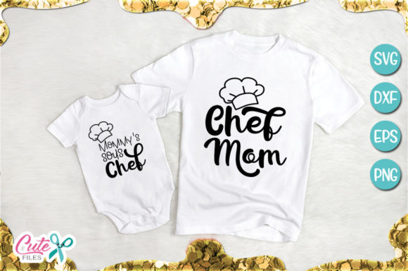 Download Free Chef Mom And Sous Chef Baby Svg Graphic By Cute Files Creative SVG Cut Files