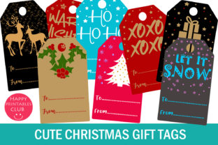 Christmas Gift Tags- Holiday Gift Tags Graphic By Happy Printables Club