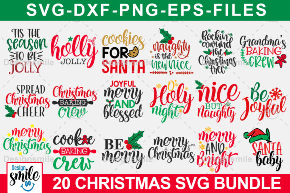 Download Free Christmas Svg Bundle Graphic By Designdealy Com Creative Fabrica for Cricut Explore, Silhouette and other cutting machines.