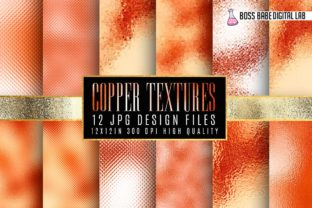 Copper Foil Textures Graphic By bossbabedigitallab