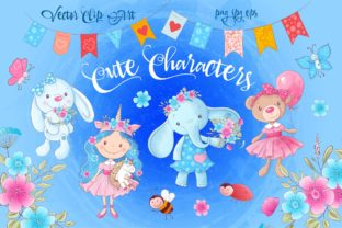 Cute Characters – Vector Clip Art Graphic By nicjulia