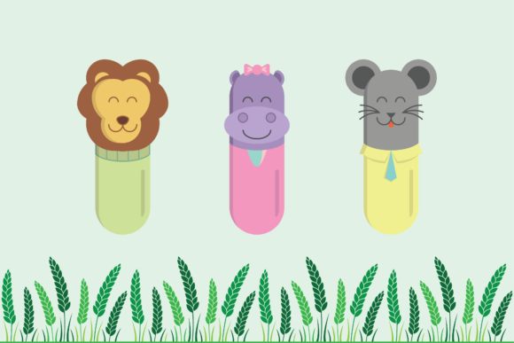 Cute Pill-Shaped Animals Graphic Illustrations By raretracks - Image 4