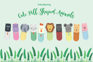 Cute Pill-Shaped Animals Graphic By raretracks