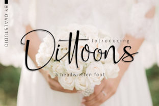 Dittoons Font By OvalStudio