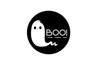 Ghost Boo! Halloween Craft Cut File By Creative Fabrica Crafts