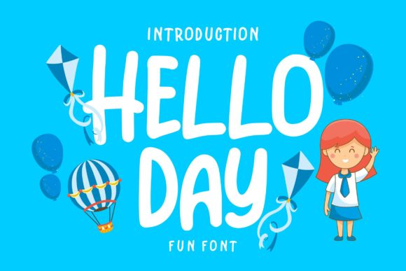 Print on Demand: Hello Day Script & Handwritten Font By Vunira - Image 1