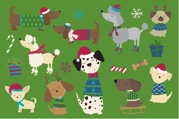 Holiday Doggies Graphic By poppymoondesign Image 2