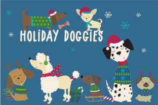 Holiday Doggies Graphic By poppymoondesign