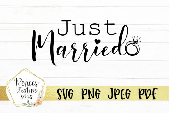 Just Married SVG Cut File Graphic By ReneesCreativeSVGs