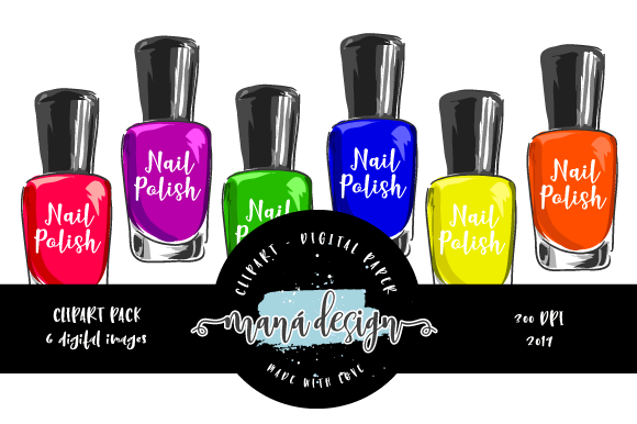 Nail Polish Colors Clipart Graphic Illustrations By Maná Design