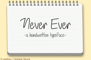 Never Ever Font By Misti