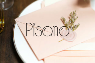 Pisano Font By codecarnivals